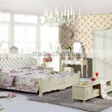 Lovely Girl's Series Bedroom Set,Contemporary Bed Room Solid Wooden Furniture,Asian Royal Bed/ European Style Dresser