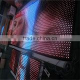 P100mm led mesh curtain see through led display flexible
