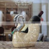 Wholesale decortive beautiful swan wine holder/ red wine rack