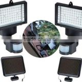 60 LED PIR solar motion sensor security light for garden outdoor use