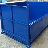 Storage Collapsible Steel Pallet Box / Galvanized Steel Box