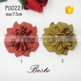 Wholesale genuine new custome PU material artificial leather daisy flower for shoes decoration