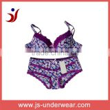 js-289 smart sexy bra and panty set for young girl of new design