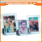 China gifts and crafts factory direct wholesale glass material photo frame for table display