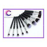 Soft  hair 10 piece makeup brush sets synthetic essential kit with  Personalized custom logo