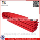 Wholesale martial arts belts taekwondo belt 360cm tkd belts red