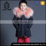 Top quality cheap kids winter fur boys parka coats