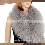 65x23cm 100% natural tibet lamb fur scarf / mongolian lamb fur collar for women