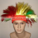 custom spirit logo headband of football wig