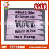 Hot Sale Wedding Satin Sash Customized Bride To Be Sash
