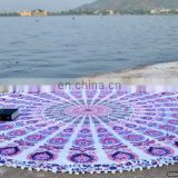 "72"" Indian Mandala Roundie Bohemian Hippie Tapestries With Pom-Pom Lace Round Beach Throw Wall Hanging Yoga Mat Table Cover"