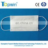 Medical light blue color and round ear loop 3ply surgical nonwoven mask
