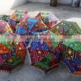 Traditional Cotton Sun Umbrellas Indian Vintage Embroidered