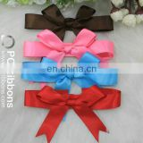 Wholesale polyester elastic pre-tied ribbon bows