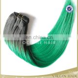 wholesale aliexpress hair two tone ombre green colored hair