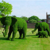 the newest design artificial grass green elephant topiary