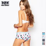 Colorful printed cotton short boxer briefs OEM / ODM