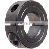 "1C-075, Mild Steel, Black Oxide Plating, Clamping Collar, 3/4 inch bore, 1 1/2 inch OD, 1/2 inch Width, 1/4-28 x 5/8"" Clamp Scre"