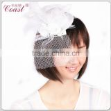 white decorative mini veil top hats wholesale