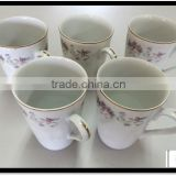 Used and Various types of white ceramic mugs bulk for household