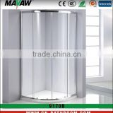 cheap and durable tempered safety glass curved sliding shower enclosure/shower cabin/room MV-9170B with CE certificate