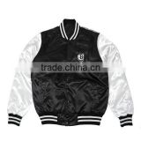 Custom fashion style black color baseball jackets                                                                         Quality Choice