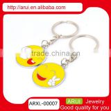 Hot new key chain yellow smile face metal keychain