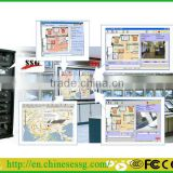 SSG burglar alarm gsm alarm central monitoring station report alarm events to alarm monitoring center by GPRS