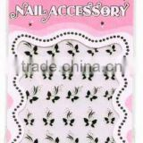 butterfly flower self adhesive nail polish sticker
