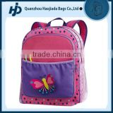Top quality brand beautiful butterfly design fancy school bags