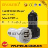USB Car Charger Adapter 2 Port 2.1A,quick charge 2.0 car charger in Plastic ABS+PC fireproofing material