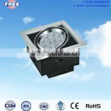 12W led grill light cover parts hot sell aluminum alloy square suitable for installation in a ceiling scriptorium