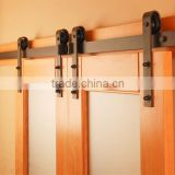 Double panel wooden barn door hardware sliding track kit