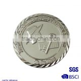 Mirror-Like plated nickel Coins Sport souvenir badge/ Custom badge/ Metal badge in gold plated