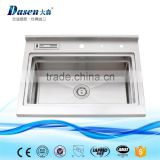 2016 Topmount mobile catering stainless steel kitchen sink with backsplash                                                                         Quality Choice                                                                     Supplier's Choice