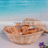Mini craft bamboo basket for candy or sundries, cheap and fast delivery