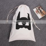 Custom wholesale cotton fabric drawstring bag                                                                         Quality Choice