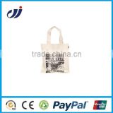 2015 promotional customized eco pvc coated cotton bags/pvc coated cotton tote bag/organic cotton bag