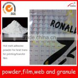 PES hot melt adhesive powder for transfer film