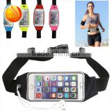 2016 Adjustable Hiking Belt Waist Pouch With Clear Touch Screen Window for iPhone 6 6S 4.7''