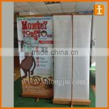 roll up banner, bamboo Banner Stand,Pull up display