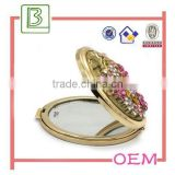 Fashion design fold make up metal mirror for women