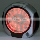Plastic luminous table alarm clock, desktop light clock, snooze children's alarm clock and nightlight