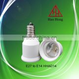 Hot sale E27 to E14 PBT enviroment adapter lampholder / Haohong factory price / made in China
