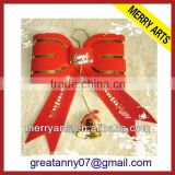 wholesale bow knot with bell christmas tree decorations made in china