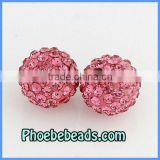 12mm Disco Ball Crystal Beads Wholesale Shamballa Bracelets Findings Pave CZ Rhinestone Clay Charms High Quality