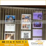 Double side real estate agents signs led window display magnetic light box