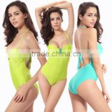 2016 New Women Bikini Sexy pure color Bodysuit Swimwear Bodysuit Jumpsuit