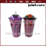 double wall plastic cups with straw 16oz ice cup with straw clear plastic cups with straws