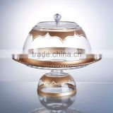 Acrylic Cake Stand with Dome, Clear Crystal, BPA Free, Food Contact
